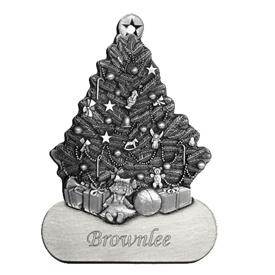 Engravable Christmas Tree Pewter Ornament